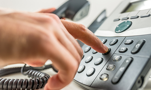 hand dialing telephone